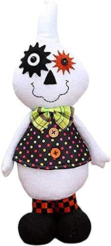 N-R Muñecas Fantasmas extrañas de Halloween Adornos de Juguete de Felpa Par de Halloween Favores Puerta Patio Patio Ley