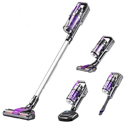 XinC sans Fil aspirateur Vertical Cleaner, Portable 4 In1 Ménage Handheld Forte Aspiration Collecteur de poussière Aspirateur pour Tapis Sol Pet Hair