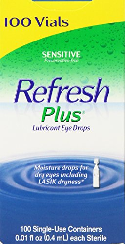 Allergan 100 Vials - Allergan Refresh Plus Lubricant Eye Drops Single-Use...