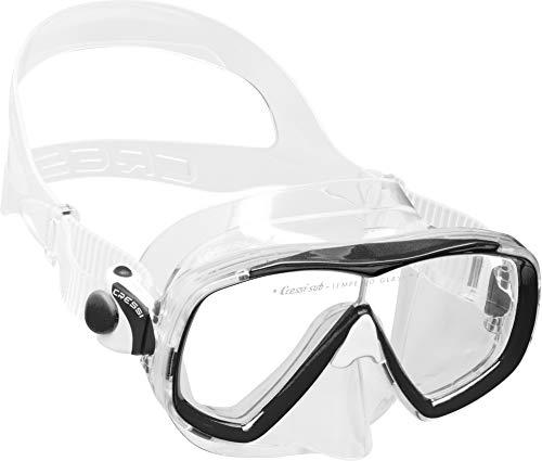 Cressi Estrella Mask Máscara de Buceo de Silicona Premium, Unisex-Adult, Transparent/Black, One Size