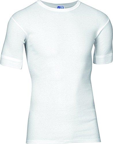 jbs - T-Shirt pour Hommes de 100% Coton - Encolure Ronde - Parfait comme Maillot de Corps - Blanc - Taille S   4   48 (JBS-300-2-1-S)