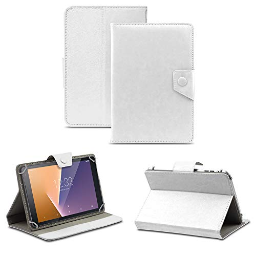 NAUC Tablet Tasche kompatibel für Vodafone Tab Prime 6/7 Schutzhülle Hülle Hülle Schutz Cover, Farben:Weiss