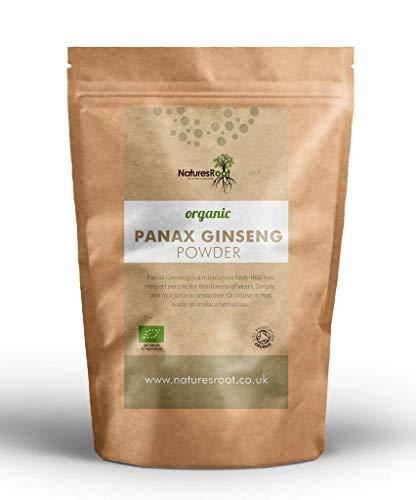 Nature's Root Bio Panax Ginseng Pulver 60g - Koreanischer Ginseng | Vegan | Ginseng Wurzel | Gemahlen