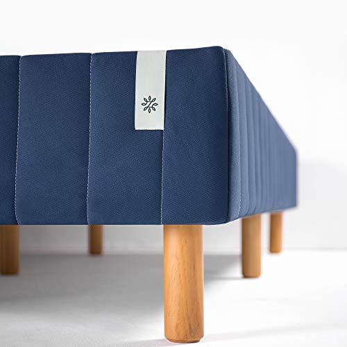 Zinus Justina Quick Snap Standing Mattress Foundation / Platform Bed / No Box Spring Needed / Navy, King