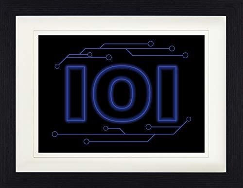 1art1 Gaming - 101 Logo Gerahmtes Bild Mit Edlem Passepartout | Wand-Bilder | Kunstdruck Poster Im Bilderrahmen 40 x 30 cm