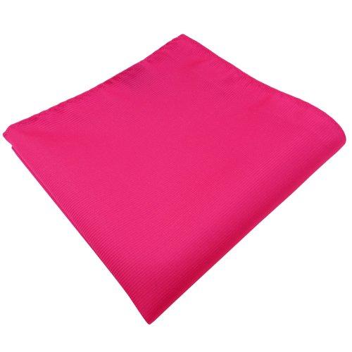 TigerTie Einstecktuch in pink knallpink leuchtpink einfarbig Uni Rips gemustert