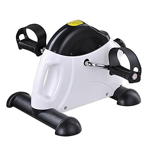 Massage-AED Mini Bicicleta de Resistencia para Ejercicios de Brazos y piernas con Pantalla LCD Aparato de Entrenamiento Paso a Paso para Bicicleta de Interior para Gimnasio de Oficina en casa