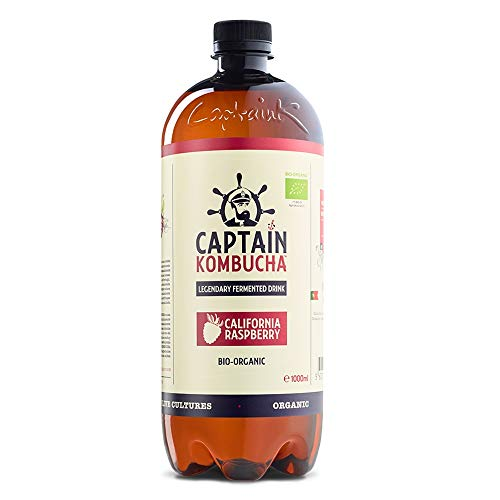 Captain Kombucha California Raspberry, Té de Burbuja - 1000 ml