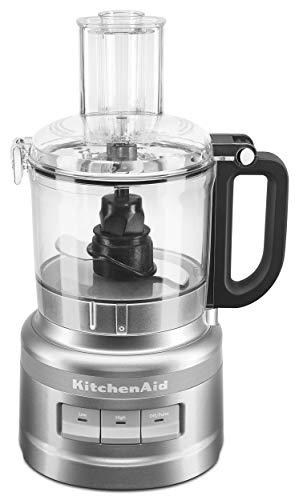 KitchenAid KFP0718CU 7-Cup Food Processor Chop, Puree, Shred and Slice - Contour Silver (Renewed)