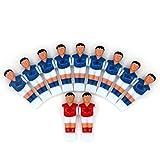 Tomaibaby 4Pcs Futbolín Hombre Estatua Mesa Chicos Hombre Juegos de Fútbol Jugador Mini Muñeca Figura Accesorios de La Máquina de Fútbol Repuestos Rojo Azul