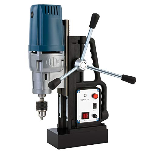 CO-Z 1200W Electric Magnetic Drill Press with 0.9 inch Boring Diameter, Portable Heavy Duty Power Mag Drill 2900lb Force Electromagnet Industrial Drilling Machine for Any Surface and Home Improvement
