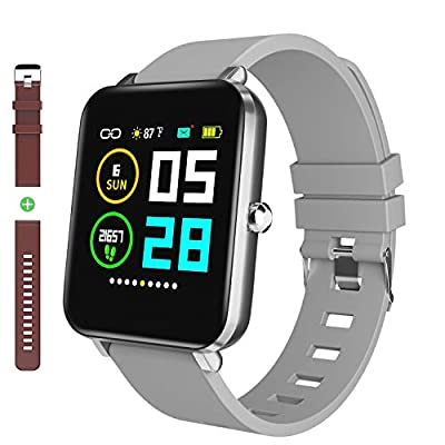 "Smart Watch: 1.54"" Full Touch Screen, All-Day Activity Tracking, IP68 Waterproof, Step Counter, Pedometer, Ultra-Long Battery Life for iOS&Andriod by Zagzog"