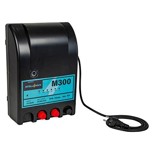 Intellishock M300 230V Weidezaungerät, starke 4,4 J, für 20 km Zaunlänge, 6-stufige Spannungsanzeige, perfekt für Pferde, Rinder, Schafe, Ziegen
