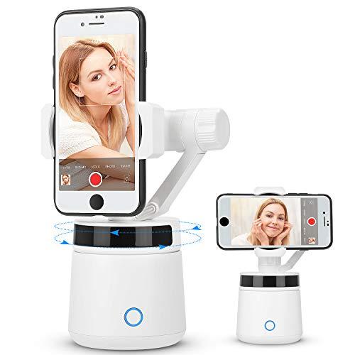 RUMIA Smartphone Gimbal Stabilisator, Rotation Auto Gesichts- / Objektverfolgungshalter Intelligent Folgen Sie dem tragbaren Smart Selfie Stick für iPhone/Android