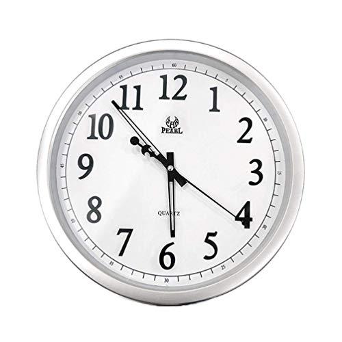 WJSW Reloj de Pared Redondo Reloj de Pared silencioso sin tictac 14...
