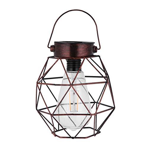 Mobestech Zonne-Lantaarn Buiten Ijzeren Kooi Lantaarn Opknoping Zonne-Verlichting Decoratieve Lantaarn Voor Tuin Patio Tuin