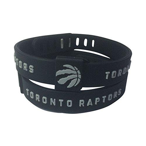 ENJOY 11 NBA Basketball Team Adjustable Silicone Bracelets Wristbands, a Set of Two (Toronto Raptors1)