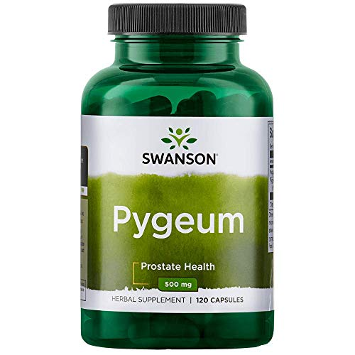 Swanson Pygeum Prostate Support Urinary Tract Health Men Herbal Supplement 100 mg Pygeum Extract (6.5% phytosterols) with 400 mg Powdered Bark 120 Capsules