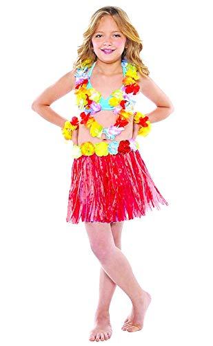 Zubehör für kostüm kostüm - theater - verkleidungen für kinder - halloween - karneval - hawaii - rock - bunte blumen - multicolor - mädchen - 5/7 jahre - geschenkidee