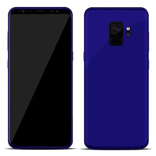 TBOC® Blau Gel TPU Hülle für Samsung Galaxy S9 SD845 (5.8 Zoll) Superdünn Flexibel Silikonhülle