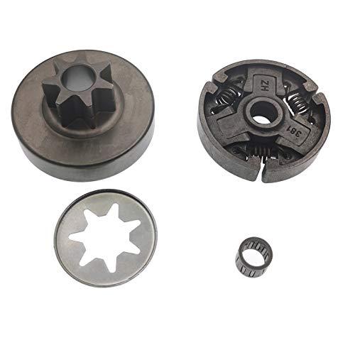 Cancanle Embrague con arandela de rodamiento de agujas de tambor de embrague para motosierra Stihl MS380 MS381 038