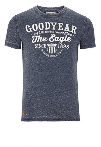 Goodyear Fashion Herren Monticello T-Shirt, Dark Navy, L