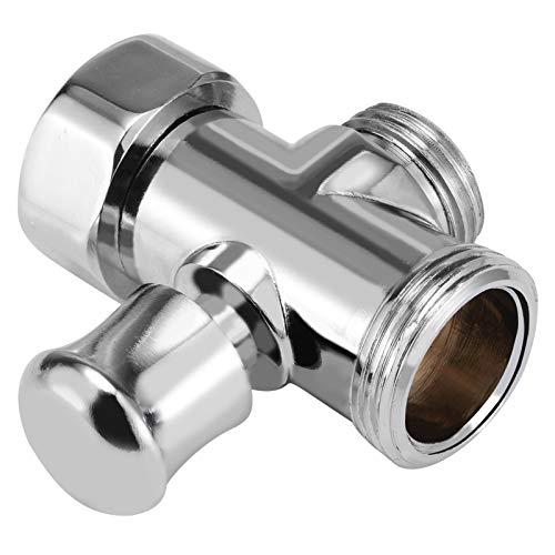 MLPNW 1 unid 3 vías de Ducha Válvula desviador de la válvula de baño bidé 3/4'y 1/2' Conexiones BSP Conexiones T-Adaptador de Ducha Sprinkler Sprinkler Thunt (Color : Silver)