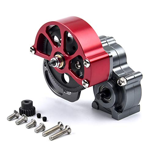 YoungRC SCX10 Transmission Gearbox Case Full Metal Assembled with Steel Gear for 1/10 Scale RC Axial SCX10 Crawler Car