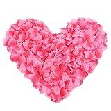 Pétalos de rosa, 500 piezas de tela de seda simulación de pétalos de rosa para boda, día de San Valentín, decoración de flores (rojo degradado)