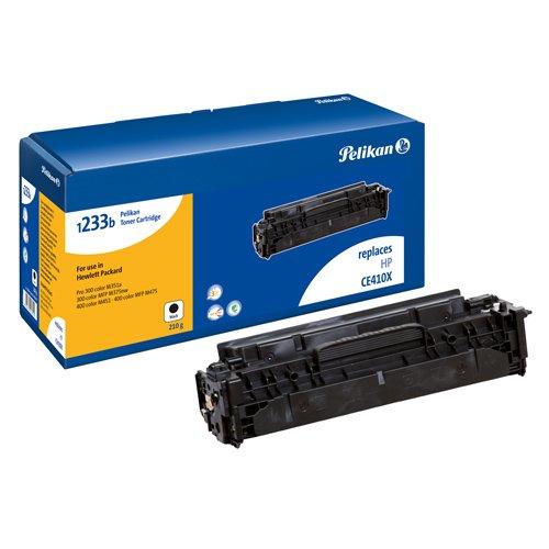 Pelikan Toner ersetzt HP CE410X (passend für Drucker HP Laserjet Pro 300 Color M351 / MFP M375, Pro 400 Color M451 - HC)