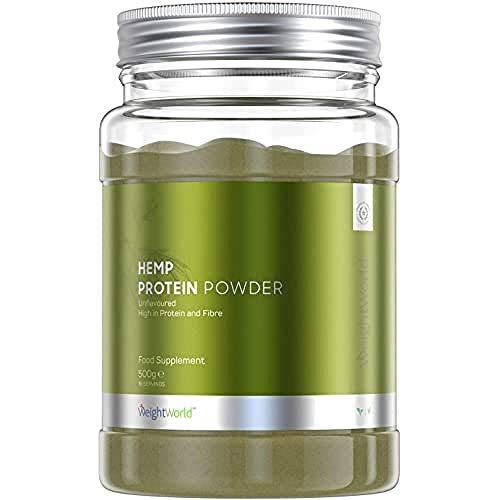 WeightWorld Proteine Vegetali Di Canapa In Polvere 500G, Aumento Massa Muscolare E Migliora Le Prestazioni In Allenamento, 9 Aminoacidi Essenziali, Omega 3, 6 E 9, Vegano - 600 g