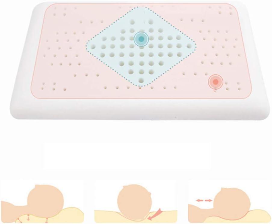 JUNBABY Oreiller Formant la tête de bébé, Positionneur de Sommeil pour Le Cou, Prévention du Syndrome de la tête Plate, pour Poussette, Coton mémoire-A A