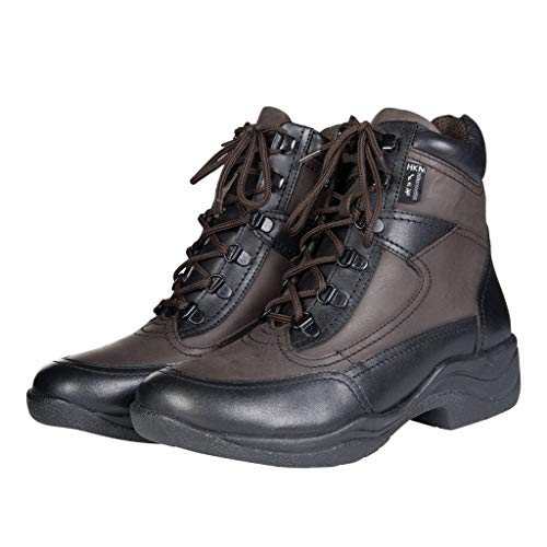HKM Erwachsene Stallschuh-Milo-9121 schwarz/dunkelbraun39 Hose, 9121 schwarz/dunkelbraun, 39