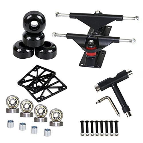 K-Park Conjunto de herramientas para monopatín, ruedas de monopatín, herramientas de monopatín, rodamientos de skate y conjunto de herramientas de rueda, para cualquier monopatín, venta grande negro