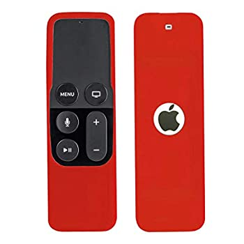 Remote Case Compatible with Apple TV 4K 5th / 4th Gen Remote SYMOTOP Anti Slip Shock Proof Silicone Remote Cover Case Compatible with Apple TV 4K 4th 5th Generation Siri Remote Controller - Red