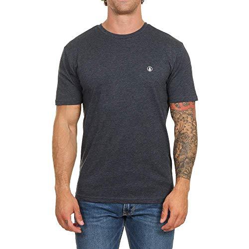 Volcom Circle Stone HTH SS Camiseta de Manga Corta, Hombre, Azul (Navy), XS