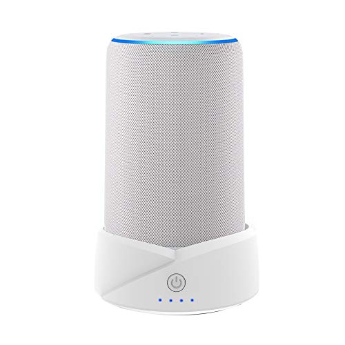 Portable Battery Base for Echo (3rd Gen) and Echo Plus(2nd Generation) White 2020 Update Makes Them Portable, Not for Amazon Echo (2nd Generation) Echo Plus(1st Generation)