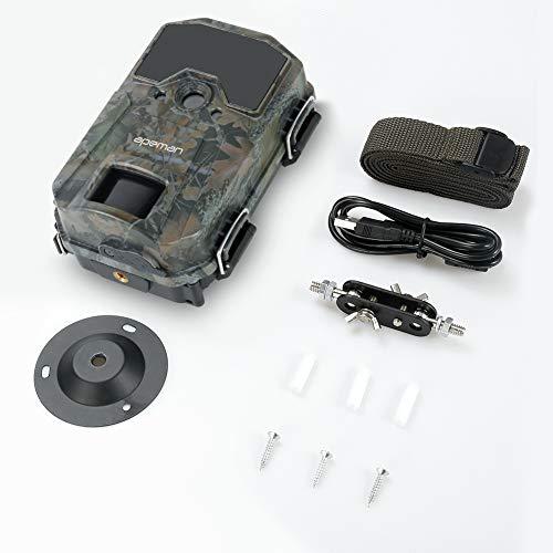 APEMAN Fototrappola 20MP 1080P, Videocamera con rilevazione Notturna Senza Bagliore con IR LEDs 940nm, Intervalli di Tempo, Timer, Design Impermeabile IP66