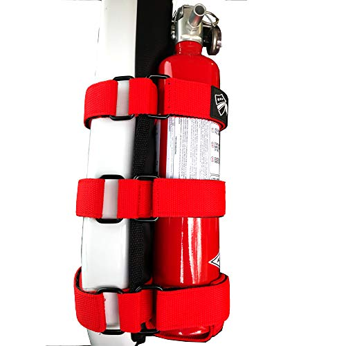 Bartact TAOFEH - Roll Bar Fire Extinguisher Holder steel brackets ABC (Red)