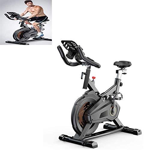 MGIZLJJ Bicicleta estática, cubierta inteligente bicicleta estática, bicicleta estacionaria Inicio silencioso, Pedal de seguridad antideslizante, con el movimiento del rodillo y Ajuste de nivel, ideal