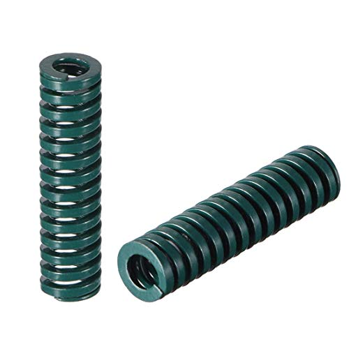 8 mm OD 30 mm lang Spirale Prägung Kompressionsform schwer der Frühling grün 10 Stück