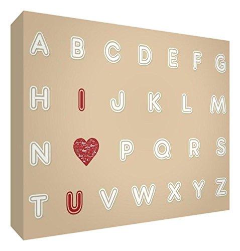 Little Helper - Cadeau souvenir de bébé poli avec diamant (15 x 21 x 2 cm, grand format - Alphabet I Love You)
