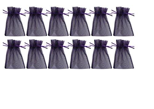 Frühes Forschen 12 Organzasäckchen 15 x 10 cm, violett