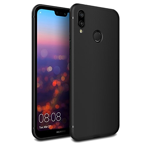 EasyAcc Custodia per Huawei P20 Lite, Morbido TPU Cover Slim Anti Scivolo Protezione Posteriore Case Antiurto E' Adatto per Huawei P20 Lite - Nero