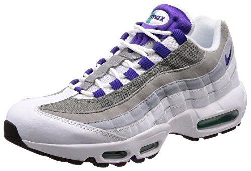 Nike Damen WMNS AIR MAX 95 OG Gymnastikschuhe, Grau (Bianco/Court Viola/Emerald Grigio 109), 38.5 EU