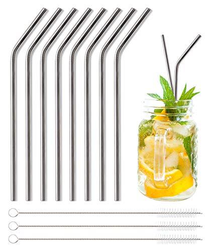 LAKIND Glas Strohhalm Wiederverwendbar Glas Trinkhalme Eco Nachhaltige Strohhalme f/ür Cocktail Smoothie Tee 8er Set Mit 4 Reinigungsb/ürsten Gerade Strohhalme 8 St/ück