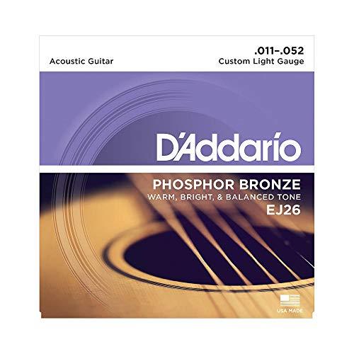 Encordoamento Para Violão Aço .011-.052 D'Addario Phosphor Bronze EJ26