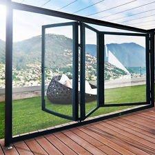 Slimline aluminio plegable puertas (100mm)–5paneles barnizados