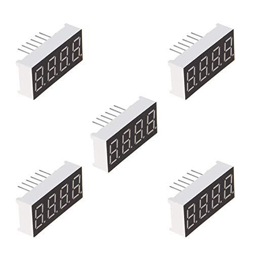 ARCELI 5Pcs Red 7-Segment 4-Bit 0,56'LED-Digitalanzeige Gemeinsame Kathodenröhre