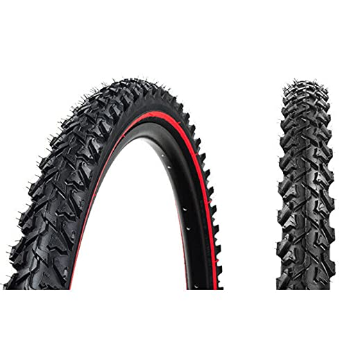 GYAM Neumático de Bicicleta 26 24 * 1,95 Neumático de Bicicleta de montaña 27TPI Tubo Interior Antideslizante 40-65PSI Neumáticos de Cross-Country no Plegables Pieza de Ciclismo,24 * 1.95